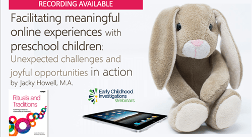 Facilitating online experiences for preschool children