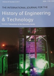 Volume 87 Issue 2 of the International Journal for the History of Engineering and Technology - Part 1 of the Proceedings of the International Early Engines Conference