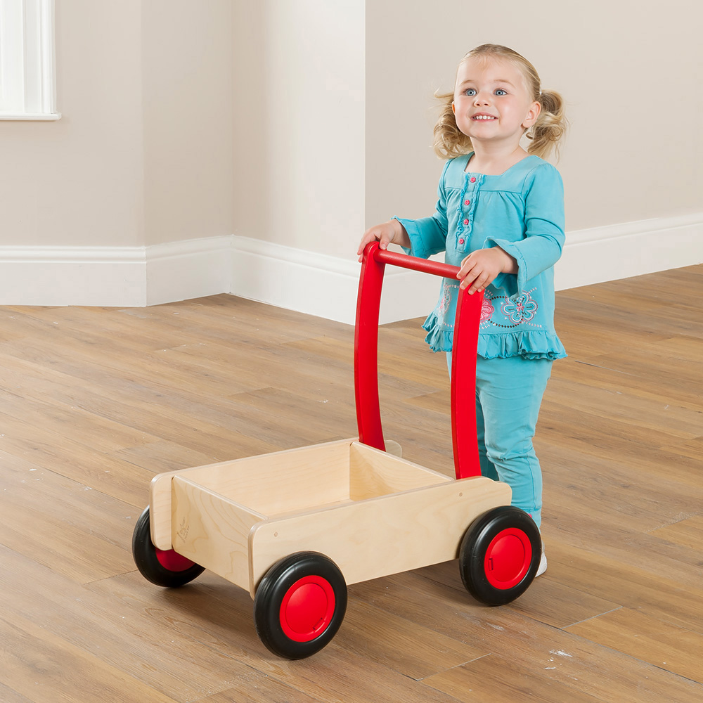 Childrens Wooden Push Cart  Early Learning Furniture