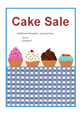 Editable Cake Sale Poster  Free Early Years  Primary