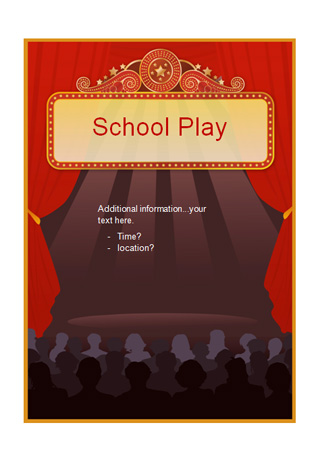 Editable School Play Poster Free Early Years & Primary