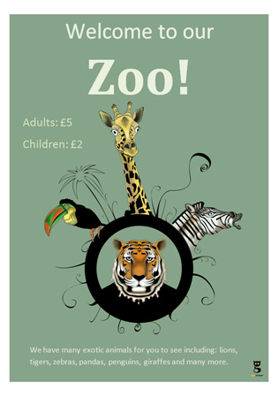 Editable Zoo Poster  Free Early Years  Primary Teaching