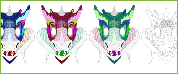 Dragon Masks Free Early Years & Primary Teaching