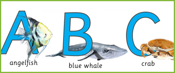 Under The Sea Alphabet Cards Free Early Years & Primary