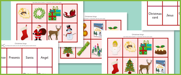 Christmas Bingo Cards Free Early Years Amp Primary