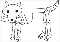 Early Learning Resources Funny Bones Moving Dog Cut-Out Poster