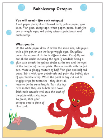 Bubblewrap Octopus EYFS Craft Activity Free Early