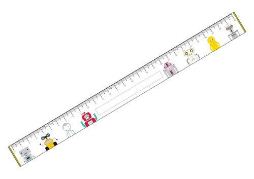 Early Learning Resources Robots Printable Rulers