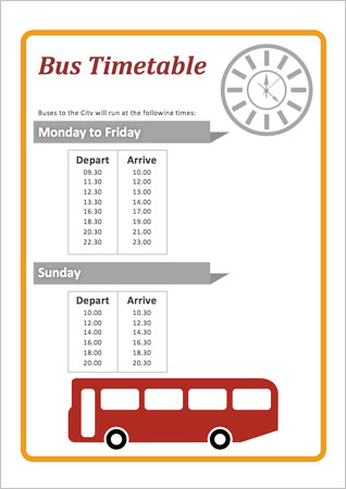 Bus Timetable Early Years Role Play Free Early Years Amp Primary Teaching Resources EYFS Amp KS1