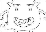 Early Learning Resources Monster Colouring In Sheets