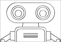 Early Learning Resources Robot Colouring In Sheets