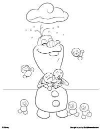 Frozen Fever Babies Coloring Pages