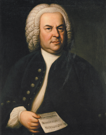 Johann Sebastian Bach as painting by Elias Gottlob Haussmann in 1748.