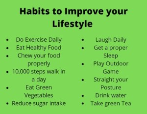 Habits to improve your lifestyle