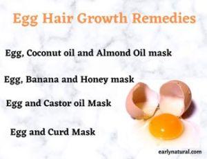 Egg Hair Growth Remedies