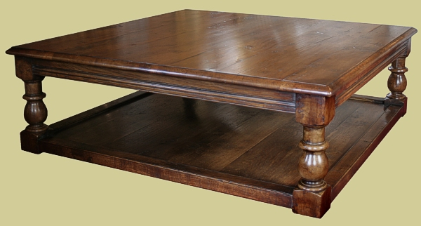 Large Oak Coffee Table Potboard Occassional Table