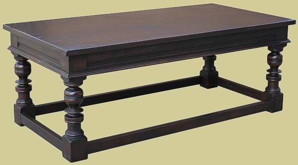 Dark Oak Coffee Table Handmade In England Bespoke