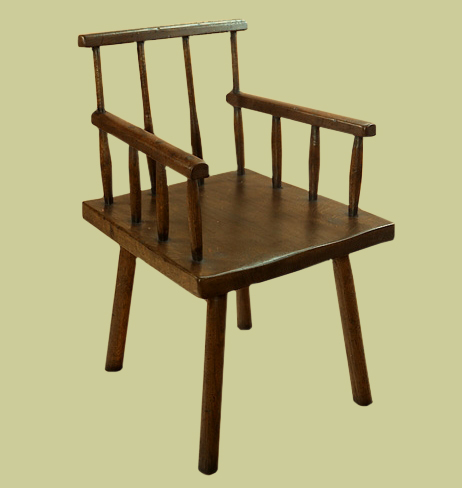 Cottage Style Comb Back Armchair