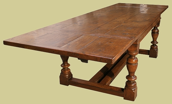 Oak Extending Table  6 to 10 Seater Dining Table  12 to