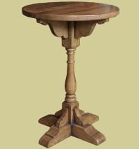 Oak Round Top Pedestal Lamp Table   Decorative Features ...