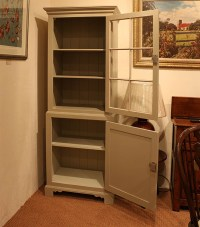 Hand Painted Glazed Display & Storage Cabinet