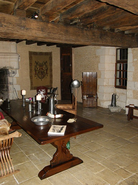 Medieval Style Table  Boarded Oak Settle in French Property