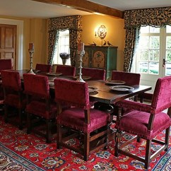 Dinning Room Table And Chairs Black Chair Covers With Tablecloths 17th Century Style Farthingale Oak Pedestal