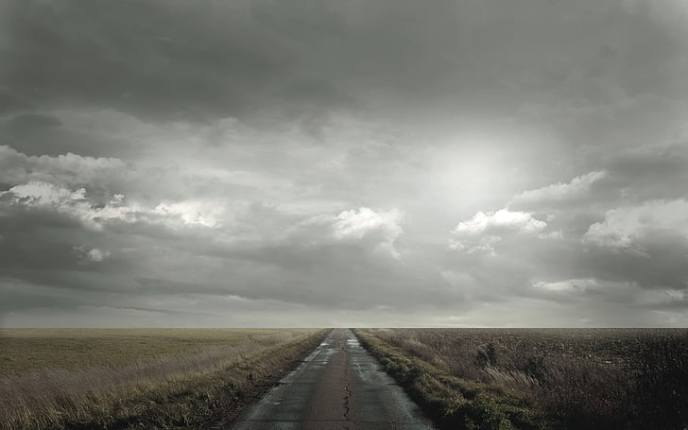 road-field-clouds-cloudy-wallpaper-preview