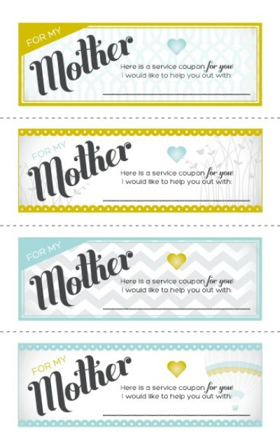 homemade coupons for mother