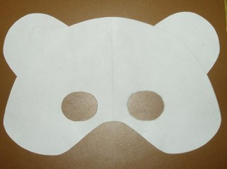 teddy bear mask template