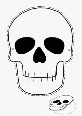 Halloween skull mask printable