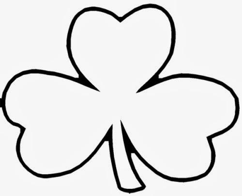 shamrock cut out template - march 2014 early play templates