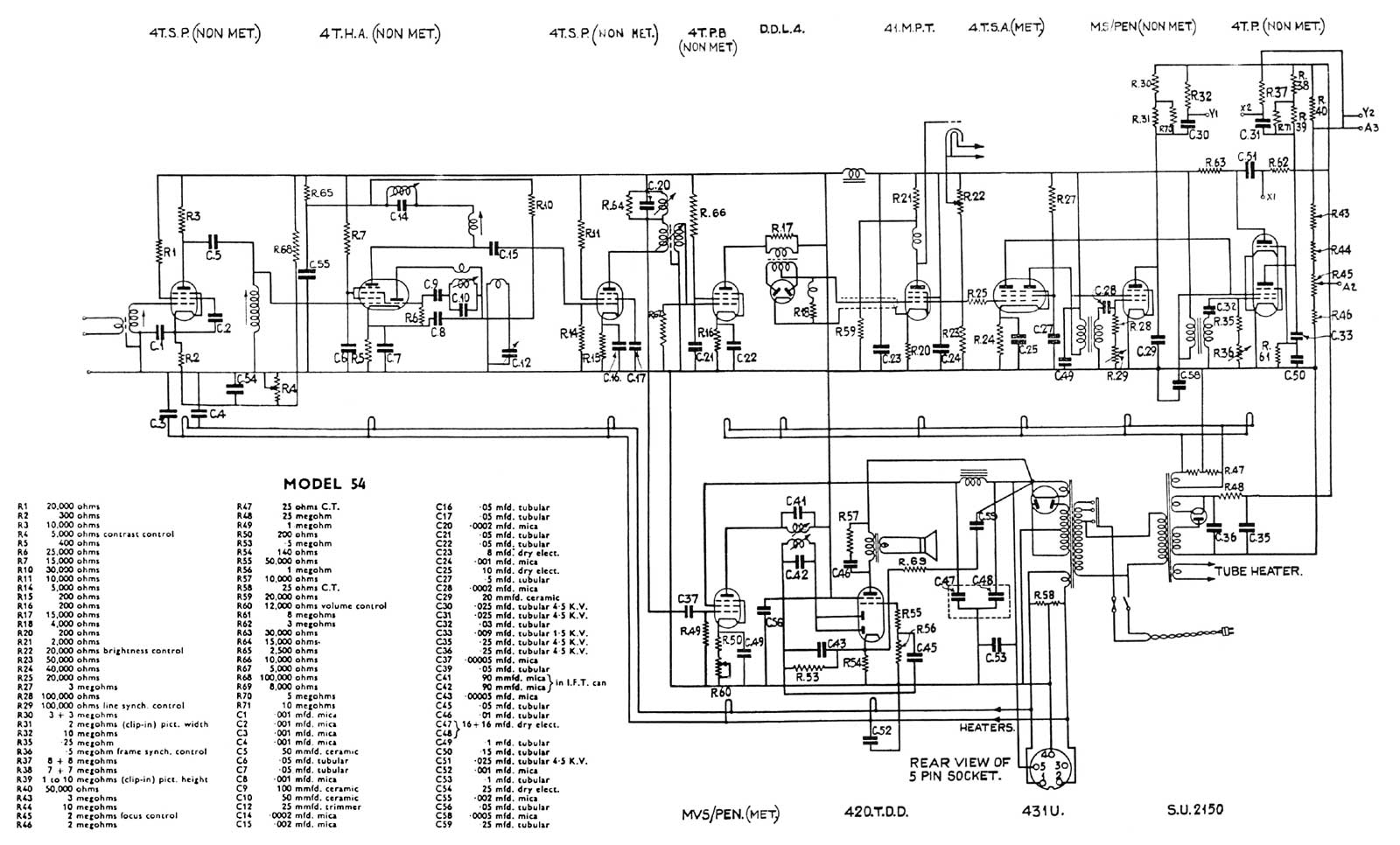 hight resolution of cossor 54 schematic diagram
