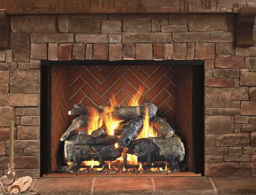 gas log fireplace
