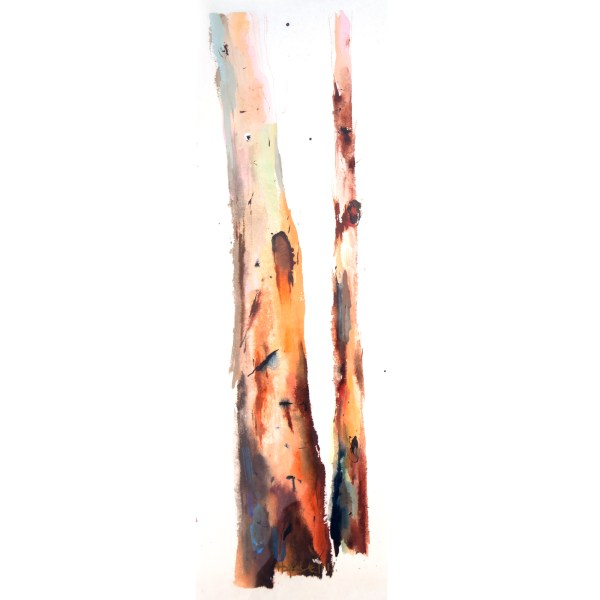 Jennifer Hopewell, Donnelly Karri IV, Gouache, ink and watercolour on Japanese rice paper, 450 x150mm $350