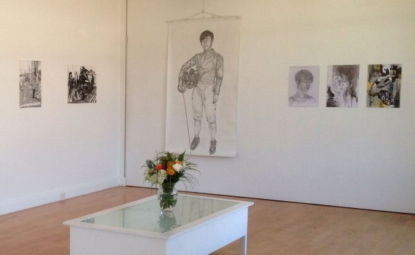 Tori Leonhard, gallery view including self-portraits