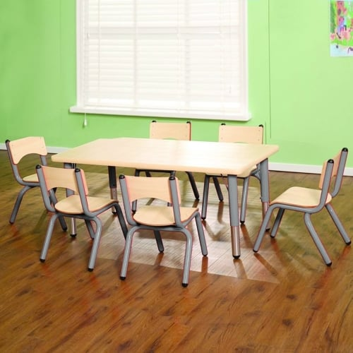 tables and chairs chair gym total body workout with 3-level resistance classroom nursery primary school