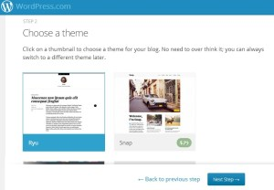 choose wordpress theme - create a wordpress blog