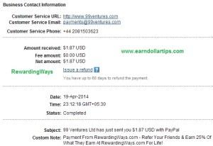 rewardingways payment proof