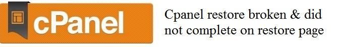 cpanel-restore-fail