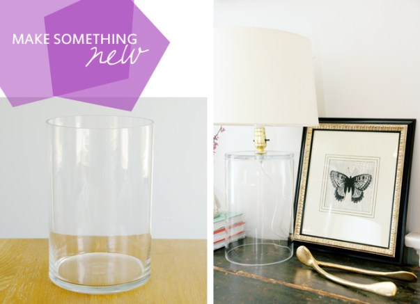 Chic Glass Lamp From A Vase Earnest Home Co