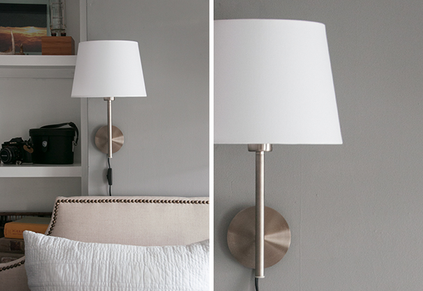 bedroom sconce diptych