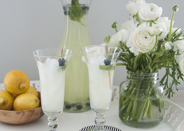 blueberry basil lemonade cooler