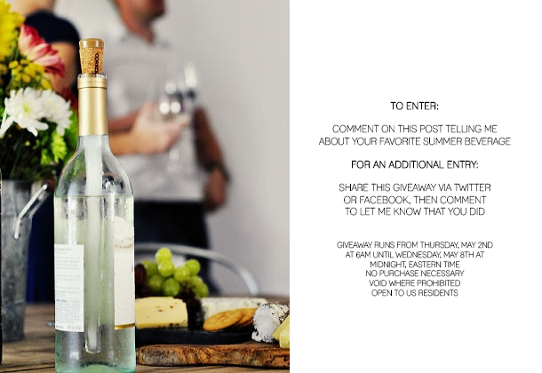 corksicle give a way - house of earnest