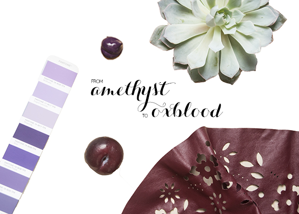 amethyst to oxblood