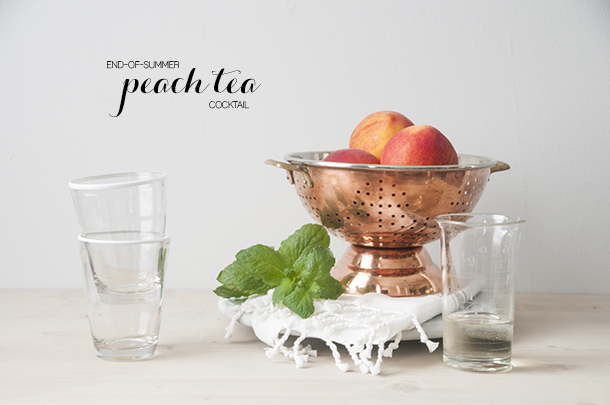 cocktail, peach, harvest, late summer, early fall