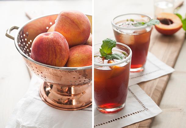 peach tea cocktail