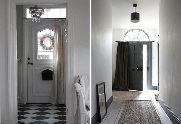 Charmant Doors With Curtains