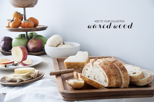 expand your serveware collection with wood