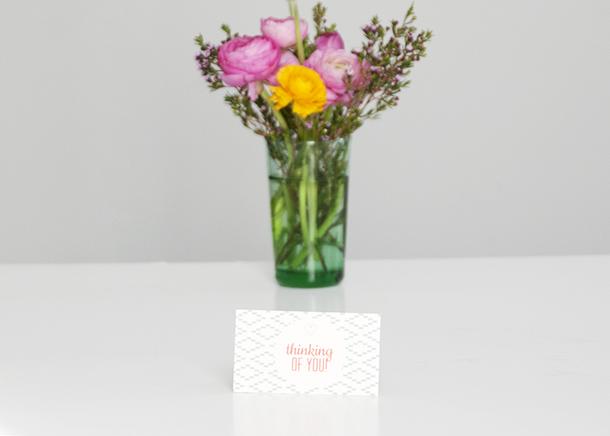 thinking of you mini notecard